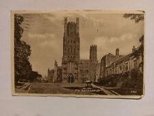Ely Cathedral Vintage B&W postcard 1953
