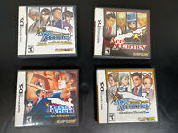 Lot of 4 Nintendo DS Ace Attorney Games - 4 Complete with Manuals Tested