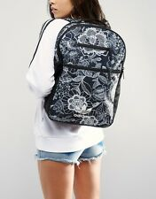 Adidas Originals W Farm Company Lacy Floral Black White Backpack New (683)