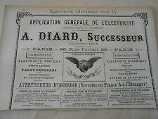 Pub 1887 - Electricité Avertisseur d'Incendie A. DiARD