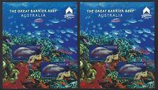 AUSTRALIA 2018 MACAU STAMP SHOW 2 SHEETLETS GREAT BARRIER REEF FINE USED