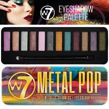 W7 Cosmetics metal pop suave Metallic Shimmers Eye Shadow paleta Salon Look