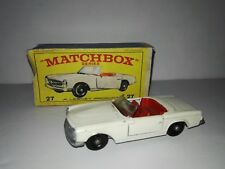 Matchbox Series N°27 1966 Mercedes 230 SL by Lesney 1:64 Original Box.Rare