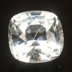 GIT CERTIFIED RARE GEMS STONE NATURAL COLORLESS JEREMEJEVITE 2.09 CT CUSHION