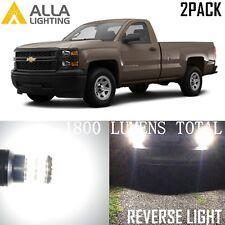 Alla Lighting 6000K Back-Up Reverse Light 921 LED Bulbs Backup Lamp for Chevy 2x