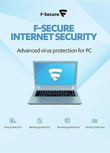 F-Secure Internet Security 1 PC 1 Year Activation Code (Email Delivery - No CD)