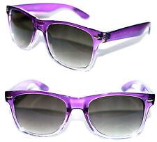 Men's Women's Wayfarer Nerd Sunglasses purple clear Frame Square Retro Vintage