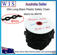 Black plastic safety chain 8mm x 35 meter roll,Plastic Link Warning Chain-46416