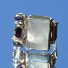 Echtschmuck aus Sterlingsilber mit 54 (17,2 mm Ø) Mondstein