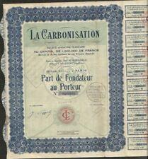 LA CARBONISATION (SELESTAT 67) ( V)
