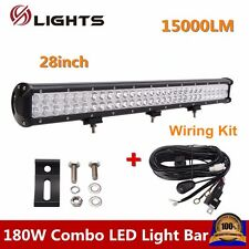 180w 28inch Cree Led Combo Light Bar Off-road SUV 4X4 Lamp With Free Wiring Kit