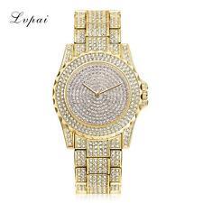 Reloj Completamente Iced Para Hombre Oro Brillante Bling Bling Diamante Brillo tiempo Pieza De Hielo