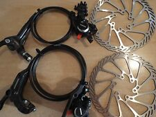 Shimano BR-BL-M315 MTB Hydraulic Disc Brakes Set With Avid G3 160mm Rotors