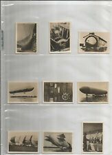 253 German Cig. Cards- Zeppelin-Weltfahrten (Zeppelin World Trips)