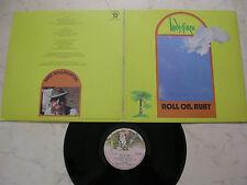LINDISFARNE Roll On . Ruby *RARE UK CHARISMA FOC LP + RIESEN POSTER!!!!!*