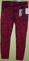 08 ) Tolle Rot Schwarze Damen Stretch Jeans Gr. 38 Der Firma Janina Ankle Length