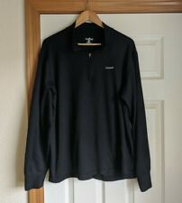 Carhartt quarter zip thermal shirt 2Xl Tall Black