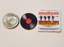 "Dollhouse Miniature Record Album 1"" 1/12 scale Barbie Beatles Help America"