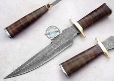 "13.25"" Custom Manufactured Beautiful Damascus Steel Bowie Knife (AA-0379-1)"