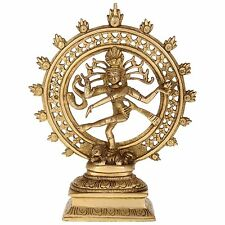 Statues of Shiva Natraj Brass Idol Dancing Shiva Figurine Statues, Free Shipping