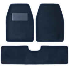 SUV Van Car Floor Mats in Blue - Quality Husky Carpet Rug 3pc w/ Rear Liner
