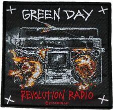 Green Day- Revolution Radio Patch-Aufnäher-Rock-Metal NEU & OFFICIAL!