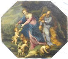Sacra Famiglia con San Giovannino e putti OLIO LOMBARDIA TOSCANA tra '500 e '600