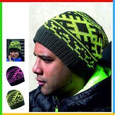 Nordic Knitted Beanie 100% Result Acrílico Sombrero Headwear, Forro Polar, Talla