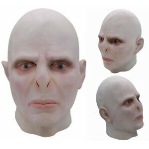 Scary Full Face Mask Voldemort Haunted Halloween Cosplay Costume Fancy Dress Up