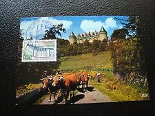 FRANCE - carte 1er jour 11/1/1975 (chateau de rochechouart) (cy59) french