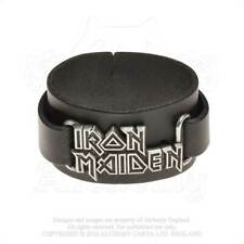 IRON MAIDEN LEATHER WRIST STRAP LOGO BRAND NEW