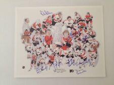 Philadelphia Flyers Stanley Cup Litho Autographed Dave Schultz Plus 9 Players