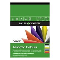 DALER ROWNEY CANFORD ASSORTED COLOURS PAD - A3 (150gsm)
