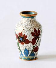 Vaso Cloisonnè Metallo Rame Cinese Oriental Ancient Old Antique Vase Cina H.5cm