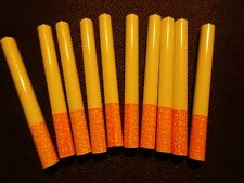 """10X Metal Bat One Hitter Cigarette Style Pipe Large Dugout 3"""" Ceramic Coated"""
