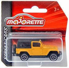 Majorette 224A Jeep Wrangler Rubicon Yellow 1:60 3-inch Toy Car