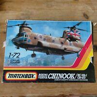 Vintage Matchbox Boeing Vertol CHINOOK HC Mk1 CH-47D 1/72 Model kit Complete