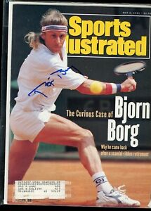 BJORN BORG TENNIS CHAMPION SPORTS ILLUSTRATED MAGAZINE signed autographed