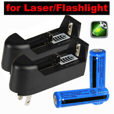 2Set 3000mAh 3.7v Li-ion Rechargeable Battery for Headlamp Torch Laser+2xCharger