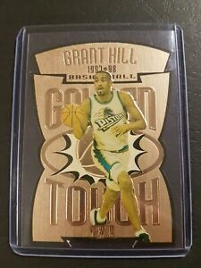 GRANT HILL 1997-98 Skybox 🔥 GOLDEN TOUCH 🔥 Die-cut Embossed Insert *SUPER RARE