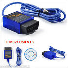 Practical ELM327 V1.5 ODB2 OBD II USB Car SUV Diagnostic Scanner Code Reader Kit
