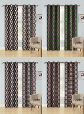 2 Snake Printed Silver Grommet Panels Lined Blackout Window Curtain Treatment