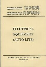 Historical book for Electrical Equipment (Auto-Lite)(depot maint,repair,rebuild)