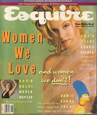 Esquire August 1990 Marla Maples, Laura Palmer, Marge Simpson 082517DBE