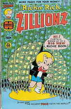 Richie Rich Zillionz #1 Vg, 2 1/4 inch tears on back cover, Harvey Comics 1976
