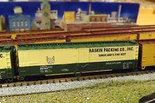N-Scale Custom Painted  50'  RASKIN ( GRN /CRM)  REFER  # 60781