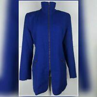 90's Vintage Harris Wallace zip wool royal blue jacket size 10