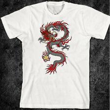 Samurai T-Shirt Bushido Dragon Katana Chinese Martial Arts Ying Yang Yakuza Asia
