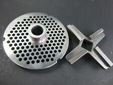 "#52 1/4"" 6.0 mm holes STAINLESS Meat Grinder plate & knife  Hobart Biro Berkel"
