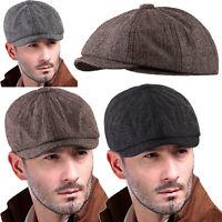 Men's Newsboy Caps Classic Cotton Vintage Flat Driving Hat Gatsby Cabbie Cap